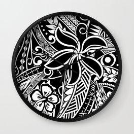 Tribal Tiare Wall Clock