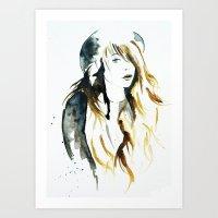 belle Art Prints featuring Belle by ne11amae