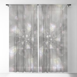 Light Speed - Abstract Photographic Art by Fluid Nature Sheer Curtain