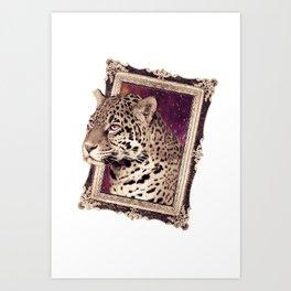 Space Jaguar Art Print
