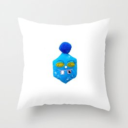 ice flake cube Throw Pillow