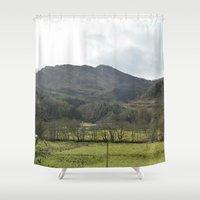 scotland Shower Curtains featuring Scotland Countryside by Ashley Callan