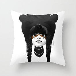 Bear Warrior Throw Pillow