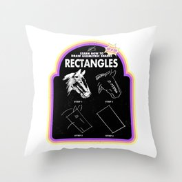 Learn to Draw Rectangles Throw Pillow