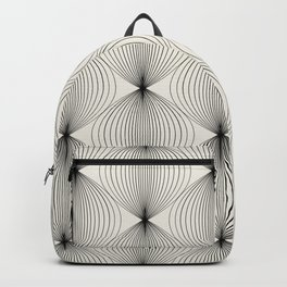 Geometric Orb Pattern - Black Backpack