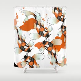 Koi Meditation Shower Curtain