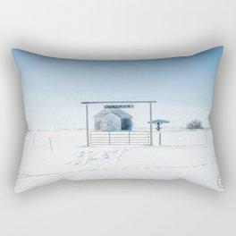 Winter, Galpin Church, Montana Rectangular Pillow