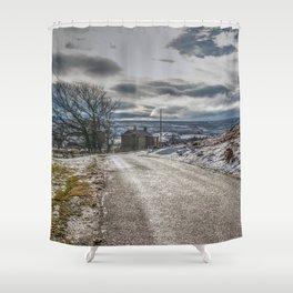 Snow scene at Muggleswick Shower Curtain