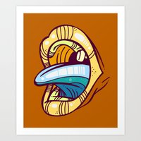 mouth Art Prints featuring Mouth by Artistic Dyslexia