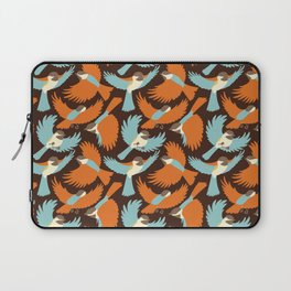 Chickadees in Brown Laptop Sleeve