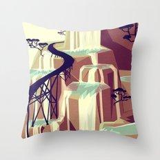 The black bridge Throw Pillow