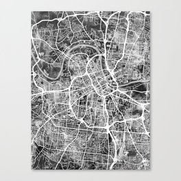 Nashville Tennessee City Map Canvas Print