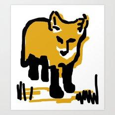 Just a little mustard Art Print