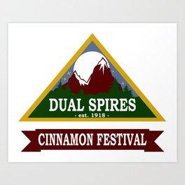 Psych - Dual Spires Cinnamon Festival Art Print