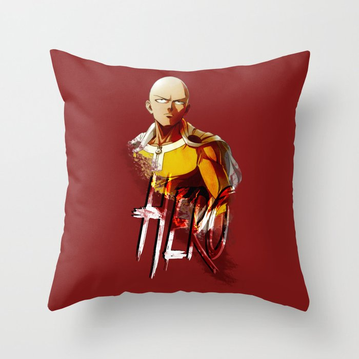 Hero - One Punch Man Throw Pillow