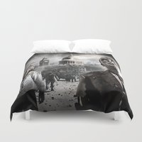 zombies Duvet Covers featuring Zombies by Joe Roberts