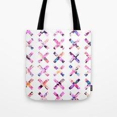 Elegant Vintage Chic Floral Bright Crosses Pattern Tote Bag