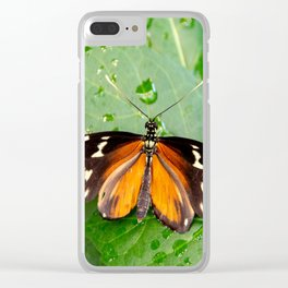 Tiger Longwing Butterfly Clear iPhone Case