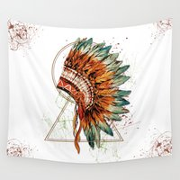 ethnic Wall Tapestries featuring ethnic by limonlukusburnu