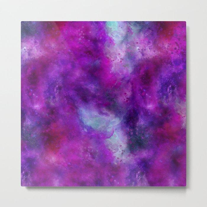 Purple Pink Blue Watercolor Metal Print