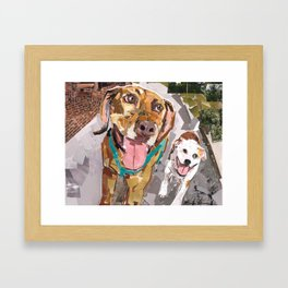 Remo and Lucky Framed Art Print