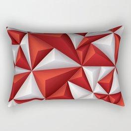 Red and white diamonds pattern Rectangular Pillow