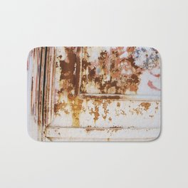 Rust and white paint Bath Mat