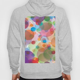 RAINBOW CIRCLES Abstract Art Hoody