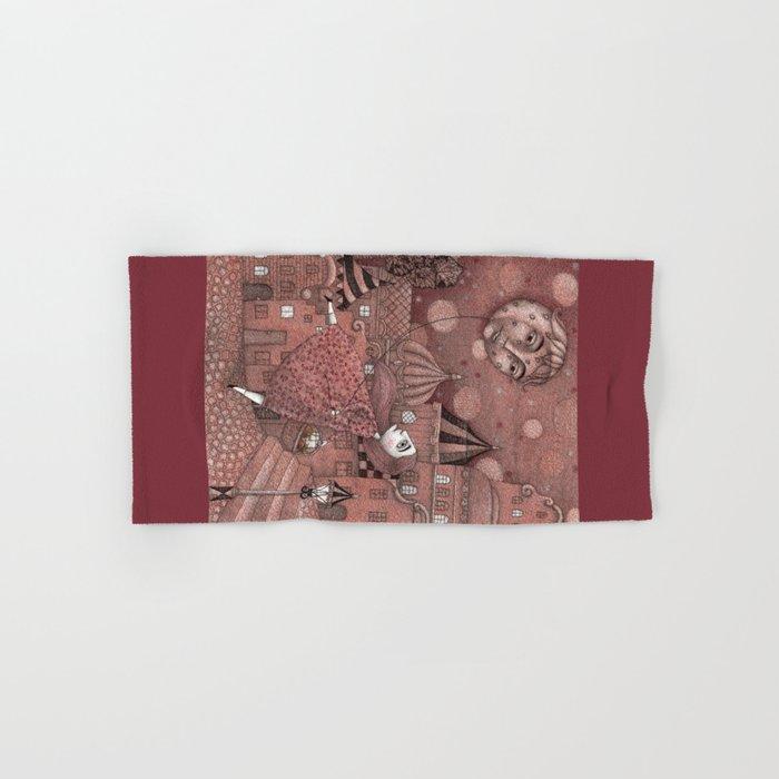 Strawberry Moon in June Hand & Bath Towel