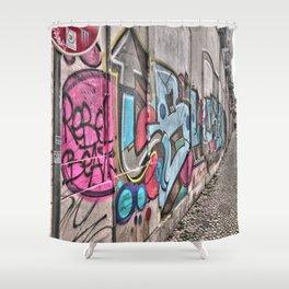 Faro street, Portugal. Portugal Series  Shower Curtain