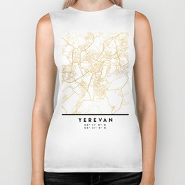 YEREVAN ARMENIA CITY STREET MAP ART Biker Tank