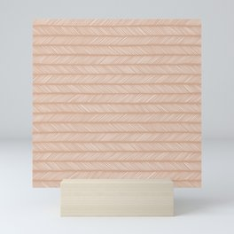 Latte Small Herringbone Mini Art Print