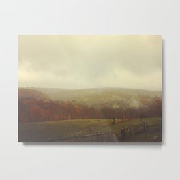 Misty Fall in Vermont Metal Print
