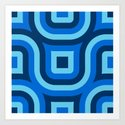 Blue Truchet Pattern by texture