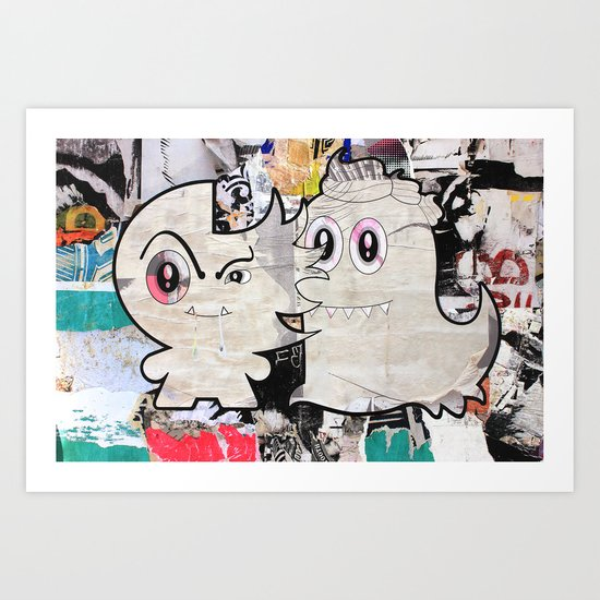 Two Sugar Monsters Art Print