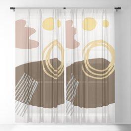 Desert Swimming Abstract Sheer Curtain