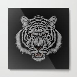 Snow Tiger Metal Print