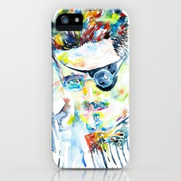 JAMES JOYCE - watercolor portrait.5 iPhone Case