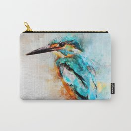 Watercolor kingfisher bird Carry-All Pouch