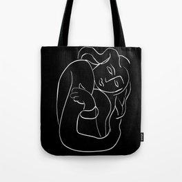 Matisse Line art Woman Black Tote Bag