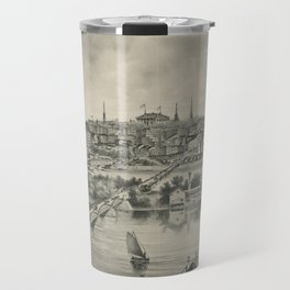 Vintage Pictorial Map of Richmond VA (1876) Travel Mug