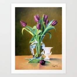 A Gift of Tulips Art Print