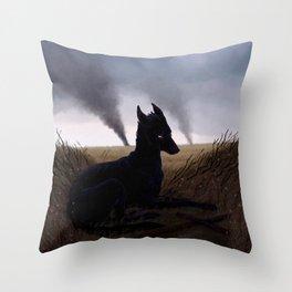 Grim Fields Throw Pillow