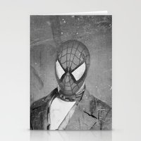 superheros Stationery Cards featuring Spidey Senior by Zach Terrell