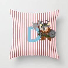 d for dwarf Throw Pillow