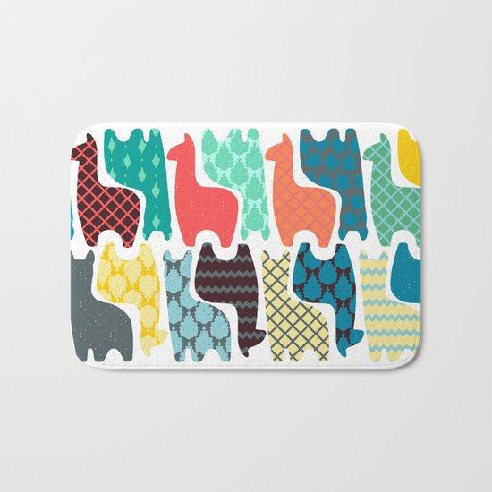 baby llamas Bath Mat