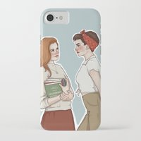 allison argent iPhone & iPod Cases featuring Allison Argent/Lydia Martin 50's AU by vulcains