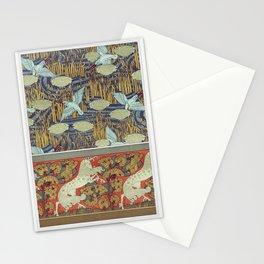Martins-pcheurs et butome en ombelle papier peint Chevaux et arbres bordure from Lanimal dans la dec Stationery Cards