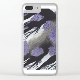 Purple Cherry Blossoms (1 of 3) Clear iPhone Case