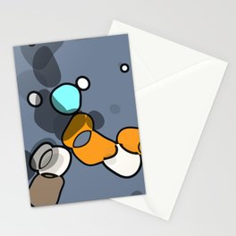 Dancing ob blue Stationery Cards